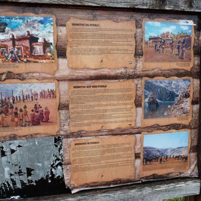 Info Tafel am Pueblo Plateau (steht nicht mehr)